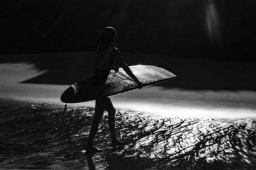 Instant silencieux en noir et blanc
