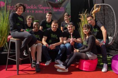 La brigade du restaurant Ô Saveurs au Festival Rock & Toques 2019