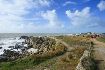 Sentier de randonnées sur la côte sauvage du Croisic
