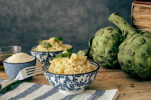 Pour la recette du risotto à l'artichaut, tout est une question de dosage, et de présentation !