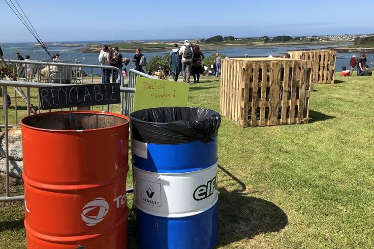 L'engagement écologique du festival passe par un site propre