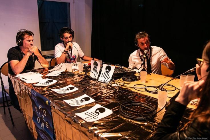 Animation radio en improvisation avec des comédiens pour animer le site
