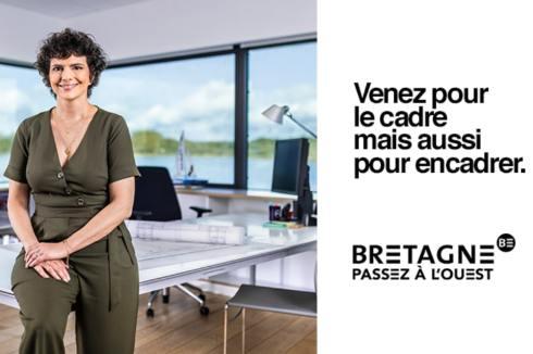 Publicité de la région Bretagne pour recruter des cadres