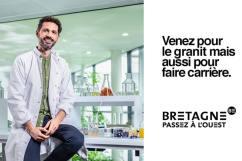 Publicité de la région Bretagne pour recruter dans la recherche