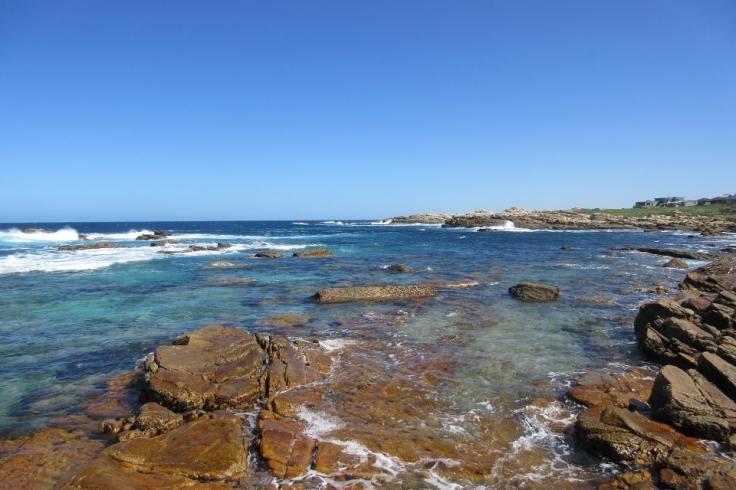 Bord de mer à Jeffrey's Bay en Afrique du Sud