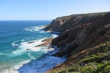 Rochers de Mossel Bay en Afrique du Sud