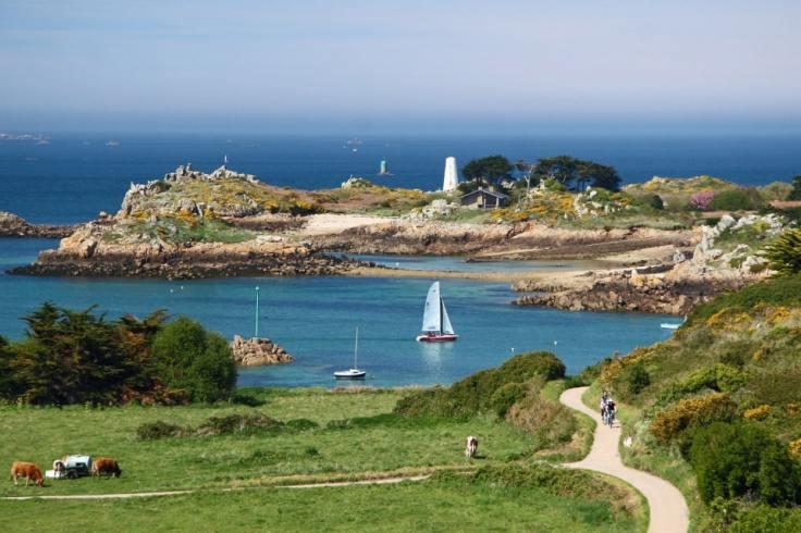 Paysage de bord de mer en Bretagne