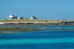 Habitations isolés sur une île
