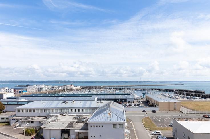 Vue de la ville de Brest et ses ports