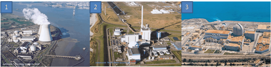 Examples of nuclear power plants in ports
