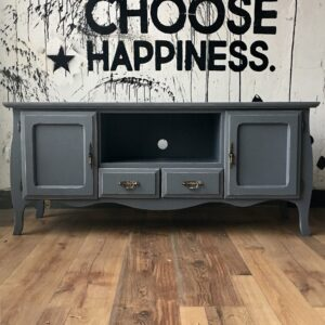 Mueble bajo TV vintage Hollywood XL Gris Cincel