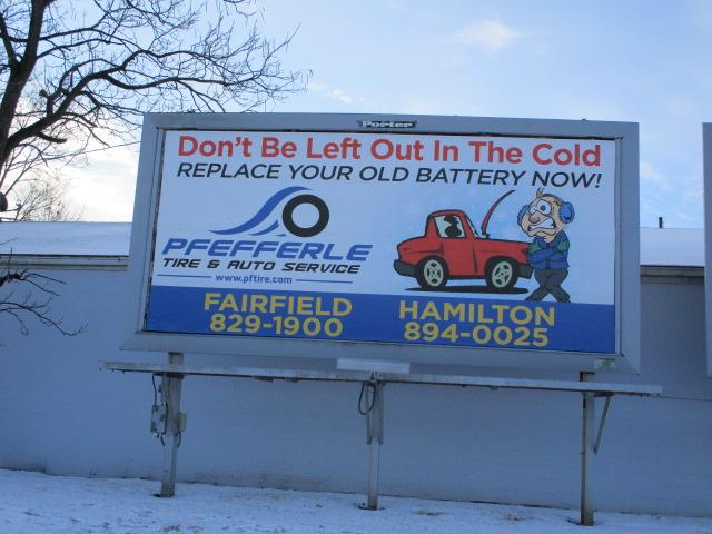 Pfefferle Tire & Auto Billboard