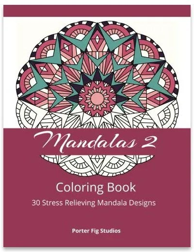 mandalas stress relieving coloring book by Porter Fig Studios