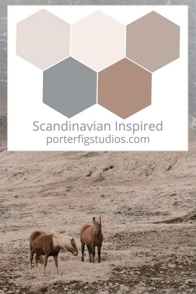 Scandinavian inspired color palette 1