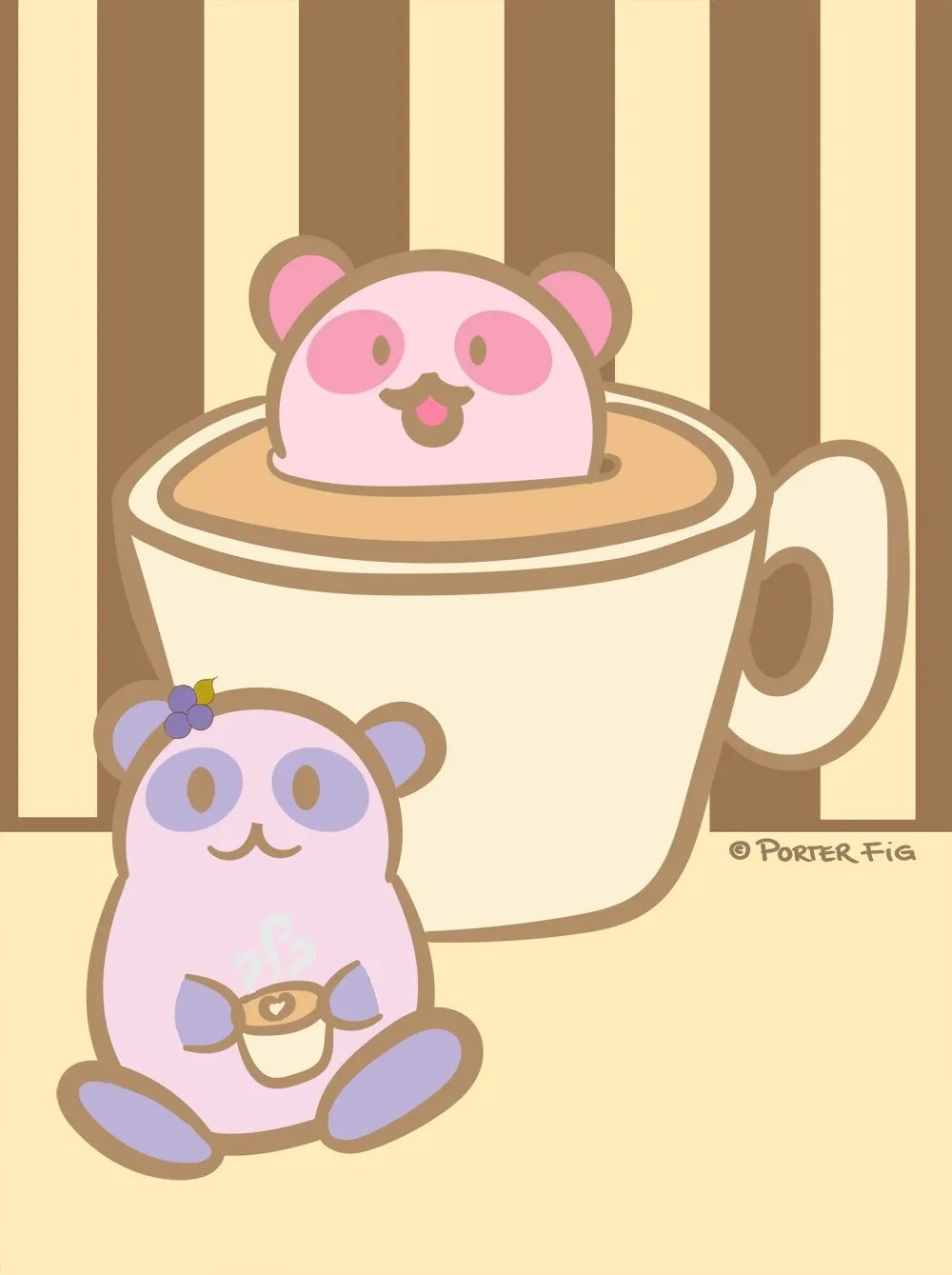 coffee and pandas by porter fig studios