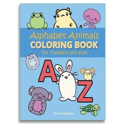 kids coloring book alphabet animals