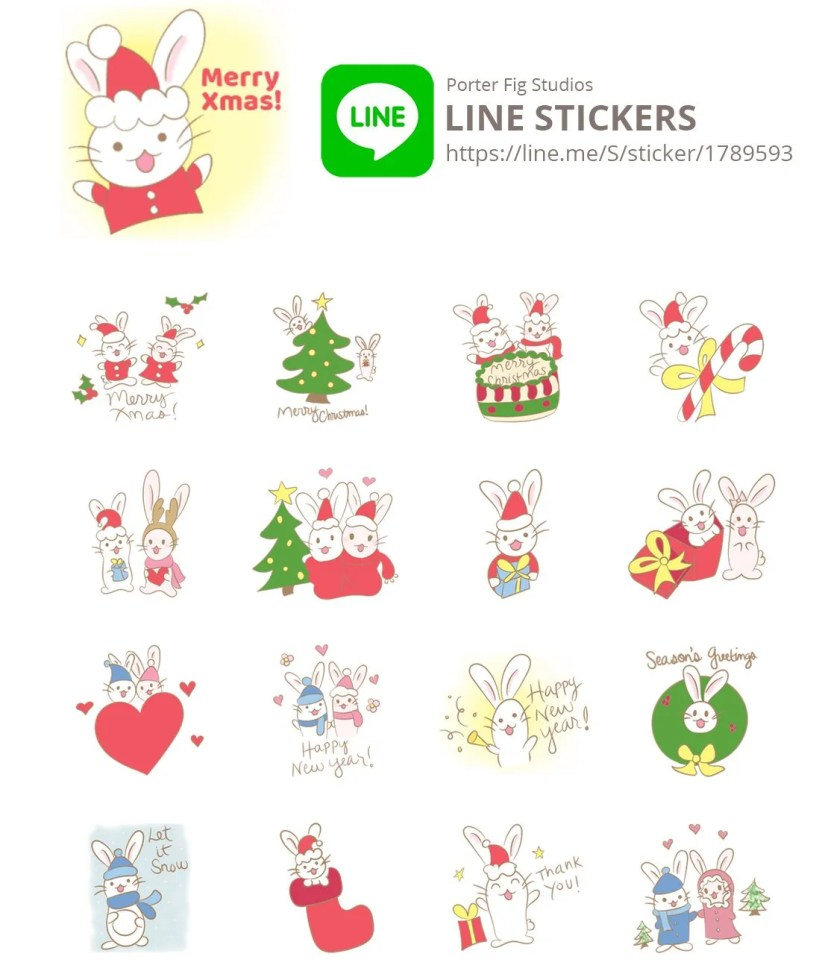 Christmas line stickers by Porter Fig Studio