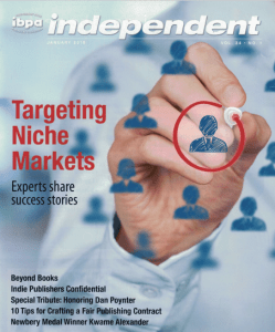 January 2016 cover of IBPA's Independent Magazine