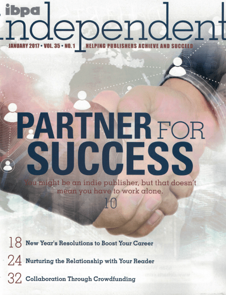 Cover of IBPA's Independent Magazine, January 2017 issue