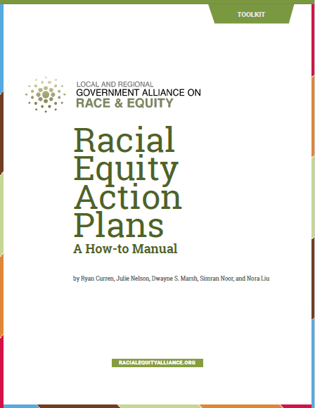 """Racial Equity Action Plans"" cover"