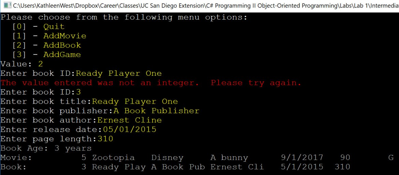 Add a Book using an interface