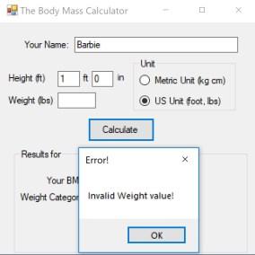 User Data Entry Validation