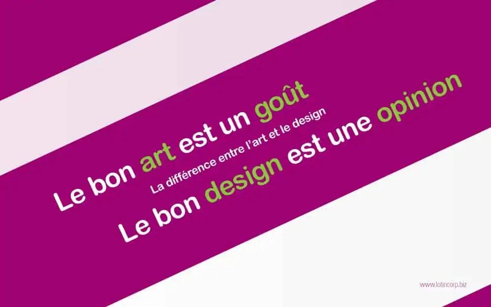 La différence entre l'art et le design (3/6)