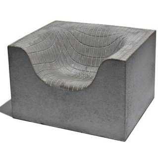 dipped concrete chair