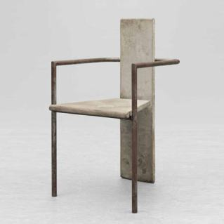 concrete steel chair