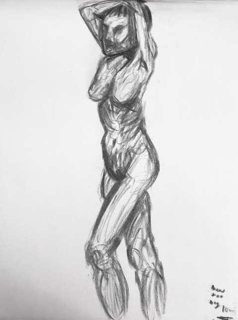 Gesture Drawing 5 (10m, 10/9)