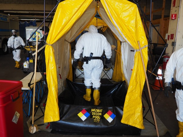 CVI members also function as decontamination specialists during HazMat incidents