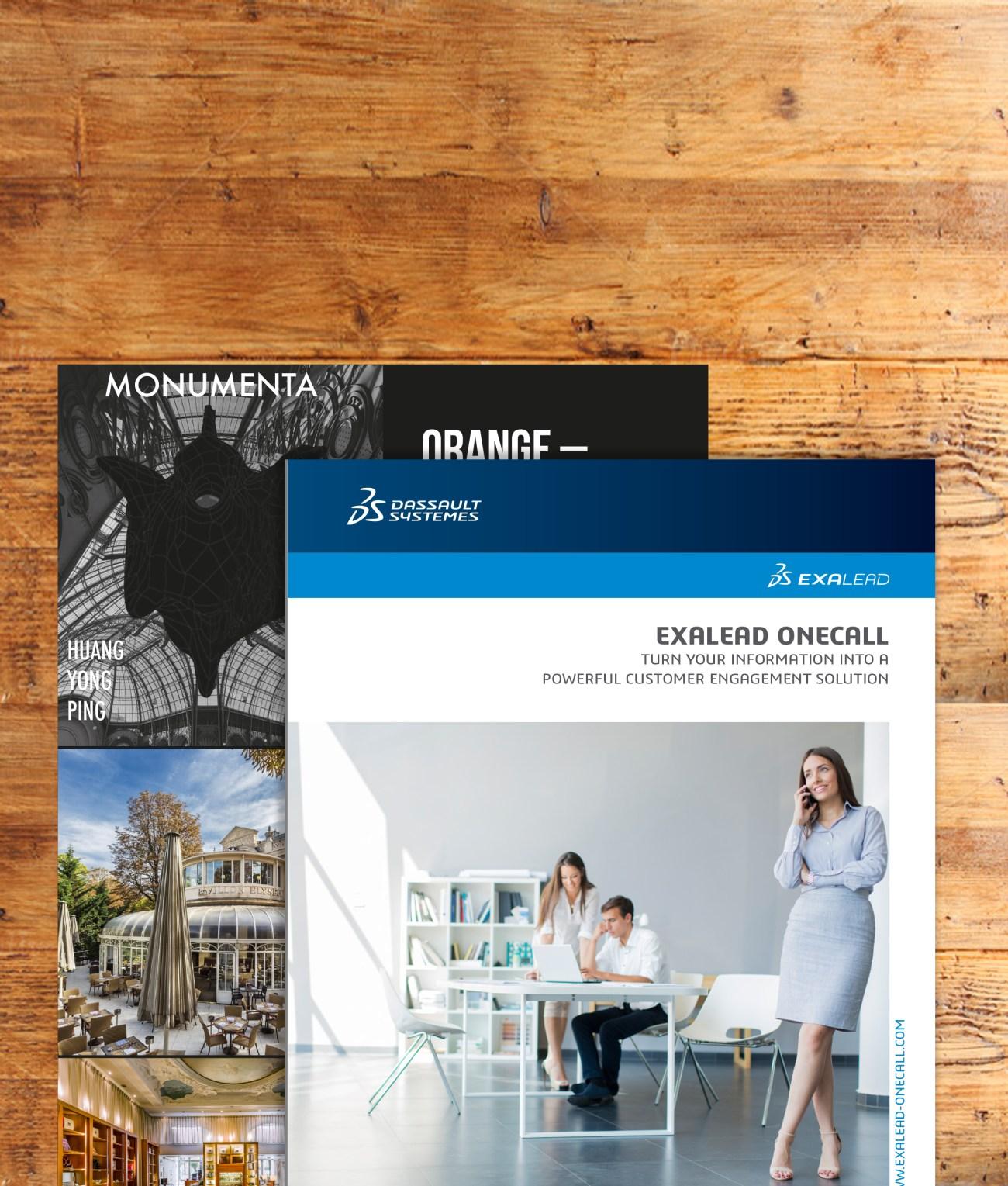 brochures et flyers
