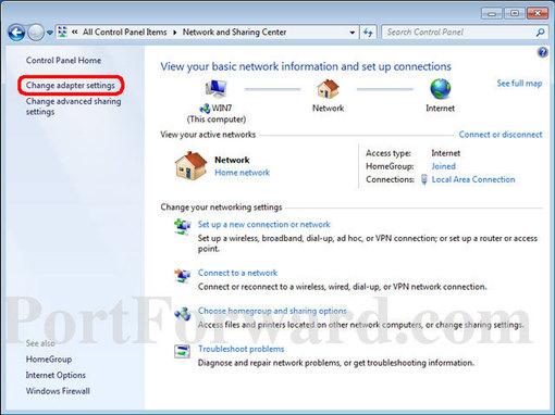 Setting A Static IP Address In Windows 7