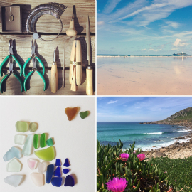 Porth tools, Godrevy lighthouse, Gwenver beach and seaglass