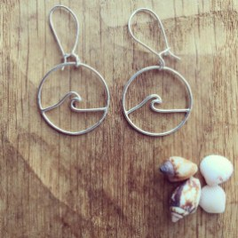 Wave Logo Earrings