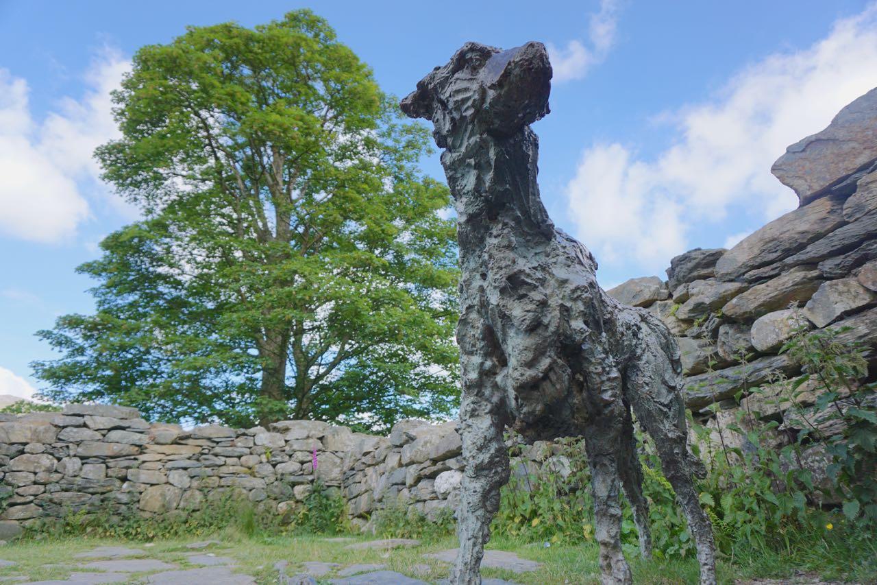 Sculpture of the Dog 'Gelert' at Beddgelert