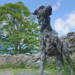 Sculpture of the Dog 'Gelert' at Beddgelert