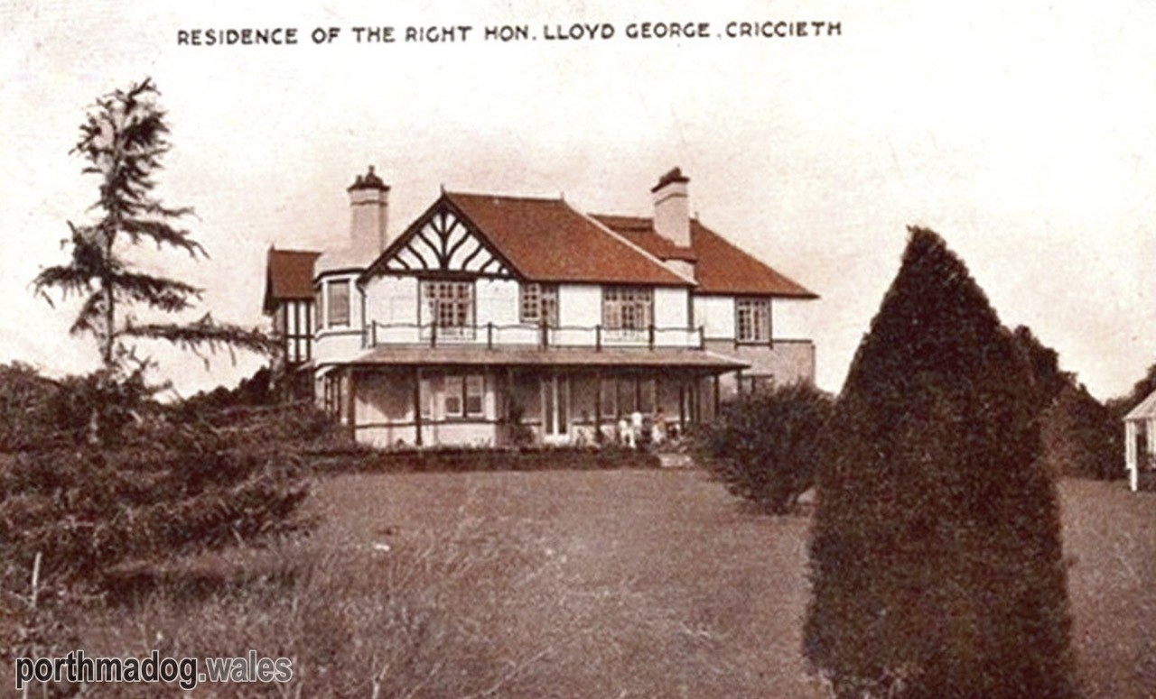 Postcard of Bryn Awelon, Criccieth (Home of David Lloyd George)