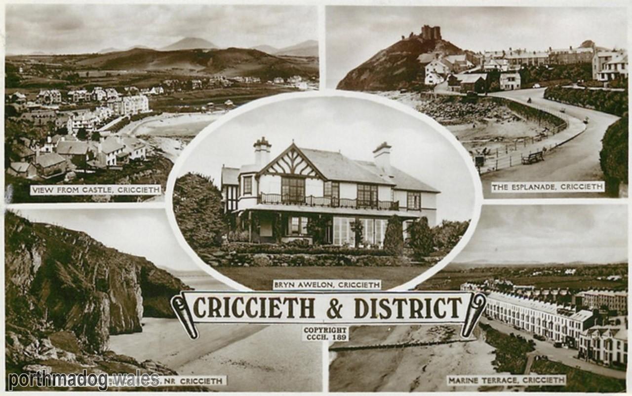 Criccieth Multi View Postcard