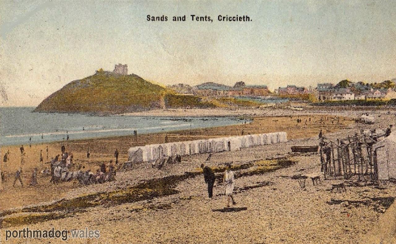 Postcard of Criccieth Sands