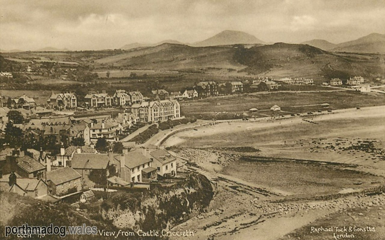 View from Criccieth Castle Postcard