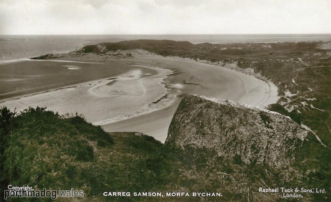 Postcard of Carreg Samson, Morfa Bychan