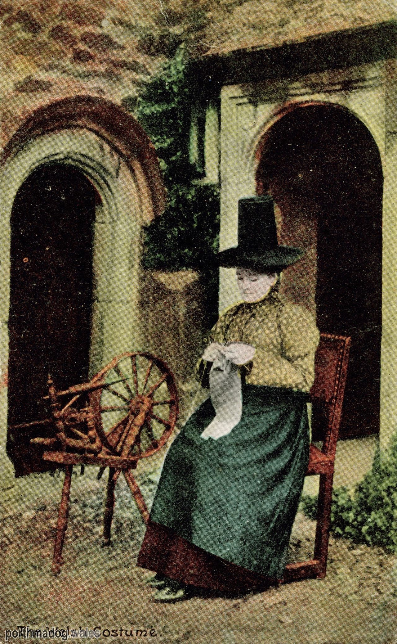 Postcard of a Welsh Lady in Her Traditional Welsh Costume