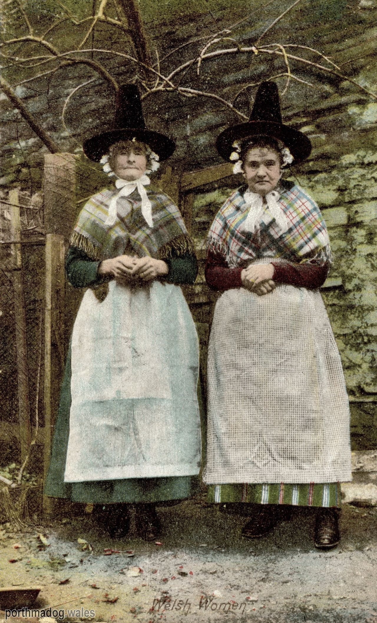 1907 Postcard of Welsh Ladies in Their Traditional Welsh Costumes