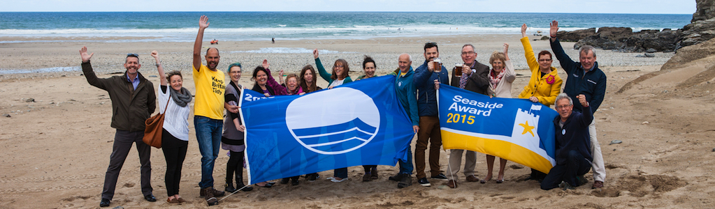 Blue Flag Presentation at Porthtowan Beach May 2015