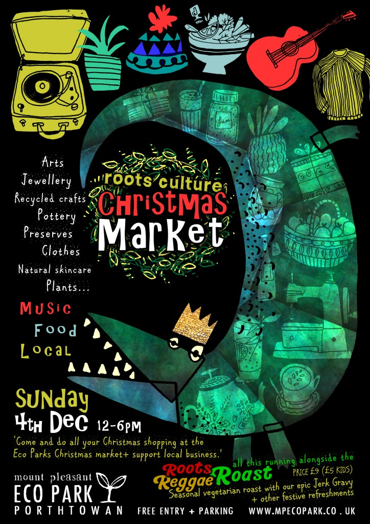 eco park christmas market poster