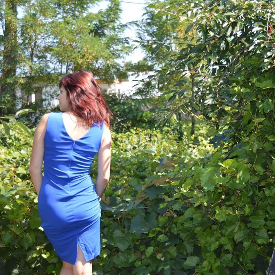 Rochie albastră FashionMia