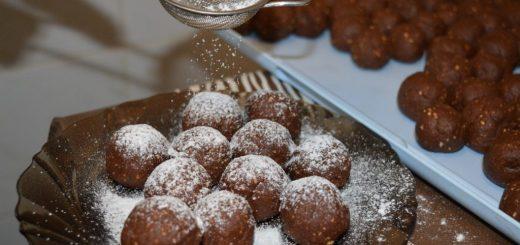 biluțe de biscuiți și cacao