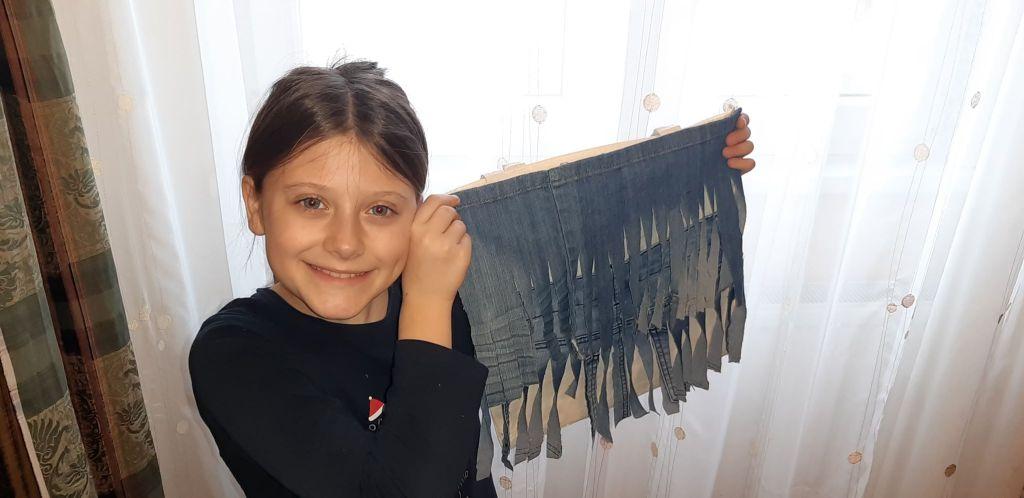 geantă din blugi vechi