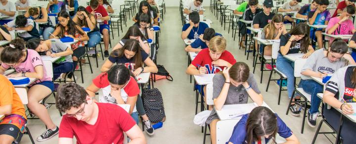 Alunos participam da Prova de Bolsas – Ensino Médio 2020